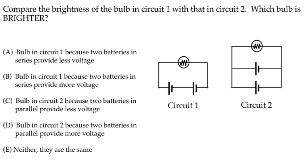 physport assessments determining and interpreting resistive rh physport org Electronic Circuit Diagrams circuit diagram exam questions