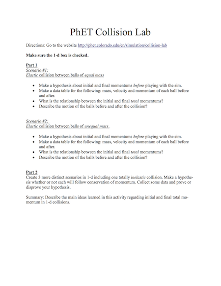How can I design an effective in-class student worksheet for PhET ...