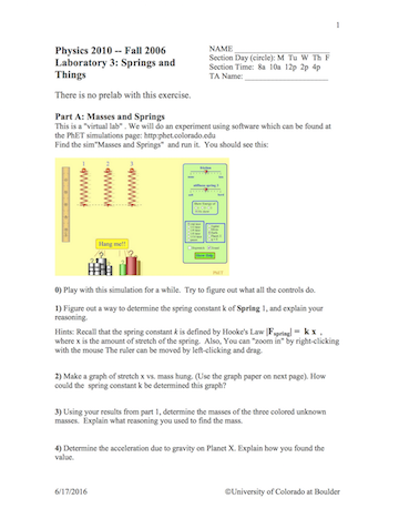 How Can I Design An Effective In Class Student Worksheet For Phet